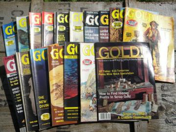 Lot old back issues GOLD! magazines True West & Coins full years