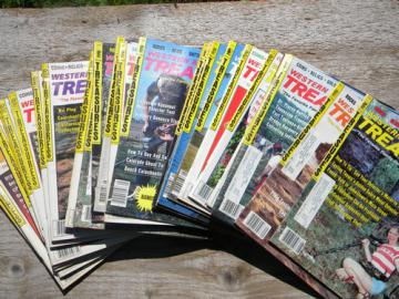Lot old back issues Western & Eastern Treasures magazines, full years