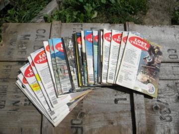 Lot old Lost Treasure magazines, full years of 1970s back issues