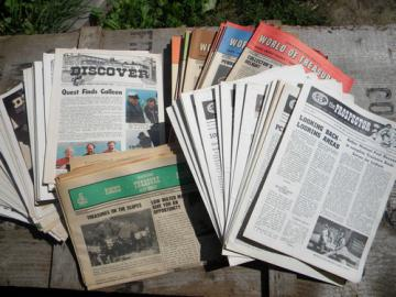 Lot old treasure hunting magazines & newsletters, Discover/The Prospector