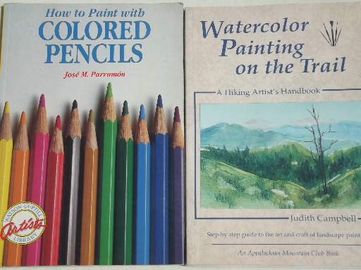 Lot Out Of Print Art Instruction Books Watercolor Artist Library