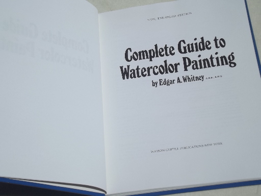 Lot out-of-print art instruction books, watercolor artist library collection