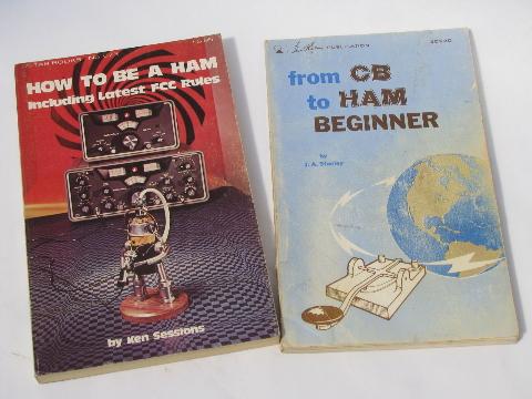 Lot retro 1970s CB & shortwave radio ham books&magazines