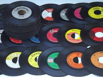 Lot retro 60s 45s jukebox vintage w/mod pop art graphics record labels