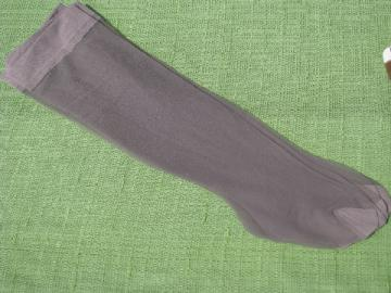 Lot retro 60s-70s vintage nylon stretch stockings lot, four colors