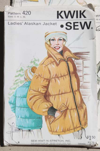 Lot Vintage Kwik Sew Sewing Patterns 80s Retro Working Girl Jackets
