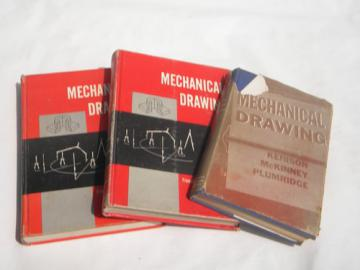 Lot vintage architects/engineers/drafters technical drawing/drafting books
