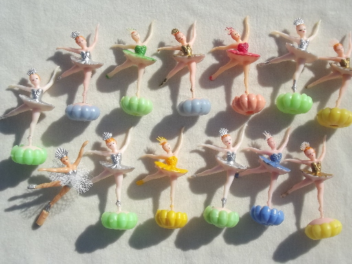 Lot Vintage Cake Toppers Cupcake Picks Plastic Birthday Party Decorations