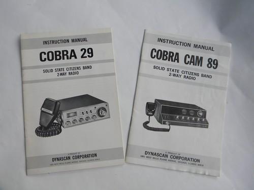 Lot Vintage Cb Radio Manuals Advertising Catalogs Cobra 29cobra Cam 89