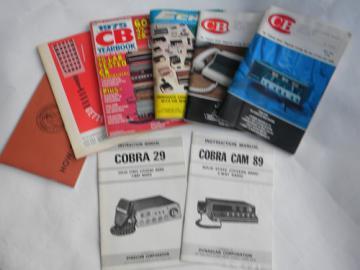 Lot vintage CB radio manuals, advertising catalogs Cobra 29/Cobra Cam 89