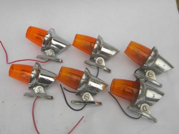 Lot vintage chrome International truck cab marker lights Signal-Stat
