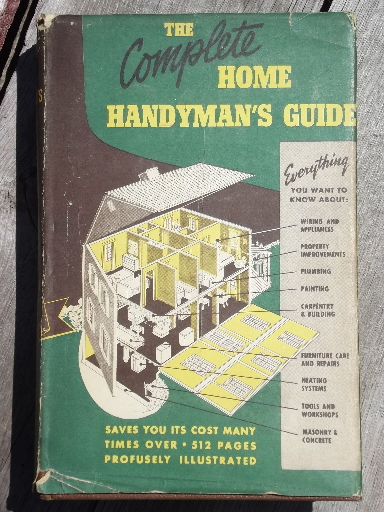 Lot vintage home handyman and house building / repair books