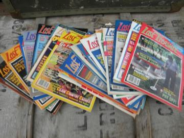 Lot vintage Lost Treasure magazines back issues, 1980s metal detecting