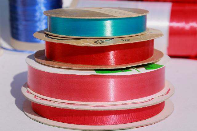 lot vintage ribbon, red white blue gift wrap ribbons for garlands, party streamers?
