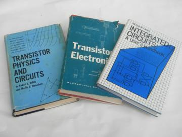 Lot vintage technical & engineering books integrated circuits/transistors
