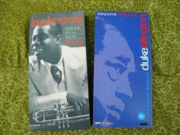 Louis Armstrong & Duke Ellington  jazz musician cassette tape sets
