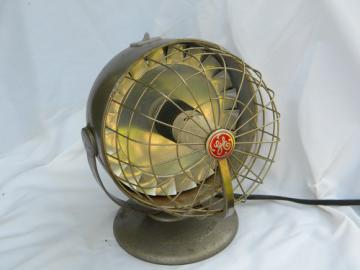 Machine age GE adjustable electric space heater/fan industrial vintage