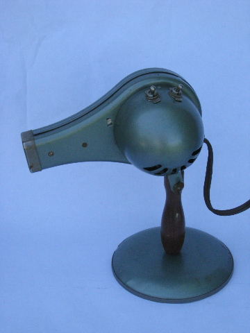 Machine-age vintage Morris-Struhl Chic early electric hair blow dryer