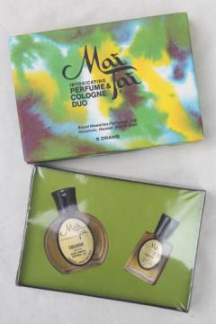 Mai Tai Hawaiian flowers perfume / cologne set, sealed vintage fragrance from Hawaii