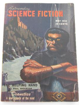 May 1950 Astounding Science Fiction magazine, 1st appearance of Hubbard's Dianetics