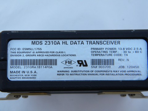 MDS 2310A 914/960 Mhz microwave radio data transceiver