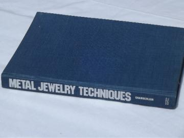 Metal Jewelry making Techniques craftsman's textbook handbook, 1976