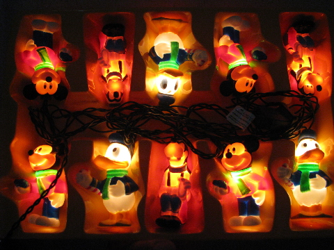 mickey mouse donald duck goofy figural character christmas lights - Mickey Mouse Christmas Lights