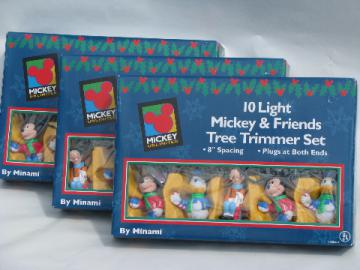 Mickey Mouse, Donald Duck, Goofy figural character Christmas lights