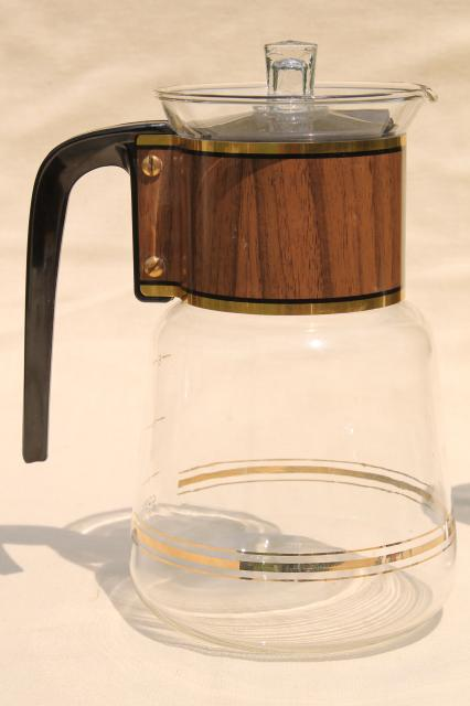 mid century Cory DGPL-3A glass 8 cup percolator vintage stove top coffee pot