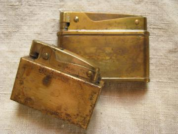 Mid century cigarette lighters Alpco, vintage Japan, lot of 2