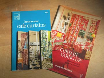 Mid century mod design booklets, sewing decorator curtains at home