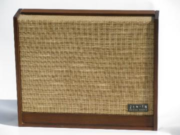 Mid century vintage Zenith MR-102 radial speaker w/ danish modern case