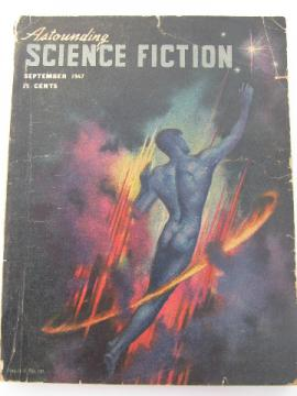 Mid-century 40s sci-fi magazine w/ pulp cover art, Astounding Science Fiction