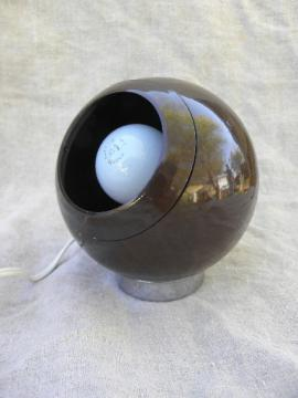 Mid-century mod ball globe shade spot light, vintage convertible lamp