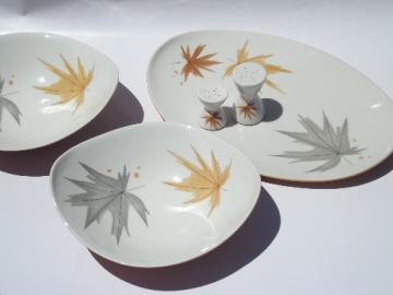 Mid-century mod Ben Siebel Iroquois pottery Harvest Time serving pieces