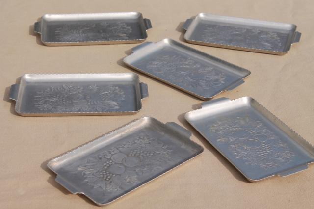 Vintage metal seving trays