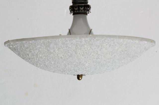 mid-century mod vintage popcorn plastic clip on lamp shade for single bulb ceiling light fixture