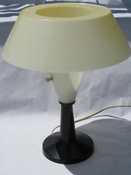 Mid-century modern 60s vintage all plastic desk or table lamp, very mod!