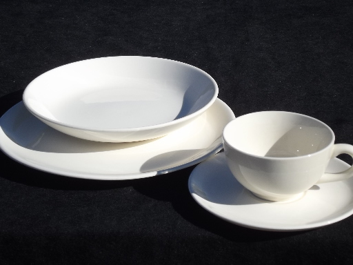 Mid Century Modern Vintage Pure White China Dinnerware : mid century modern dinnerware - pezcame.com