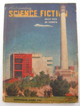 Mid-century sci-fi stories magazine, Astounding Science Fiction, July 1949
