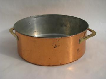 Mid-century vintage danish modern Dansk - Quistgaard copper casserole pot