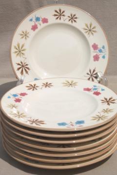 Mid-century vintage Gladding McBean Franciscan china plates, Larkspur pattern