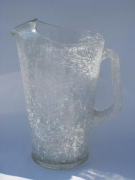 Mid-century vintage mod string pattern glass pitcher