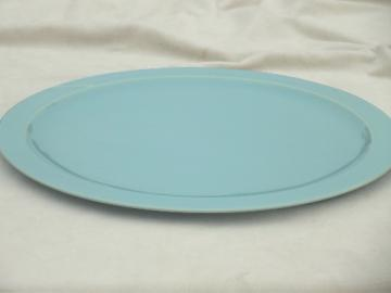 Mid-century vintage Pacific pottery cake plate or round serving platter