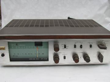 Mid-century vintage, vacuum tube ITT SMX-500 stereophonic AM-FM tuner/amp