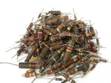 Mixed lot old industrial bumblebee resistors steampunk vintage scrap