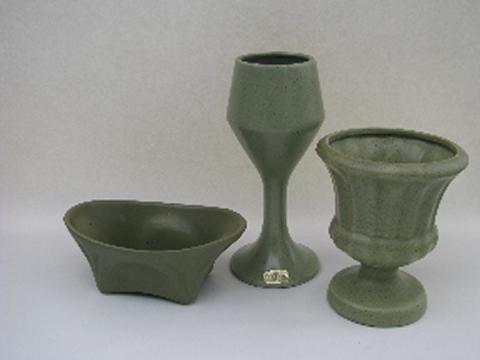 Mod Floraline Mccoy Haeger Vintage Pottery Planters Vases Matte