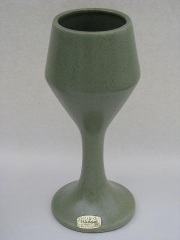 Mod Floraline Mccoy Haeger Vintage Pottery Planters Amp Vases Matte Green