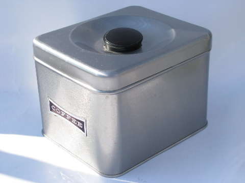 Mod Stainless Steel Canister Set, Vintage Kitchen Canisters