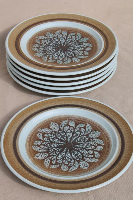 mod vintage Franciscan earthenware Nut Tree salad plates retro 1970s dinnerware : franciscan dinnerware - pezcame.com